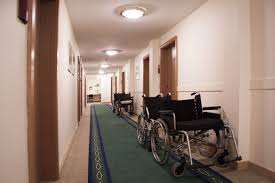 wheelchairs in hall