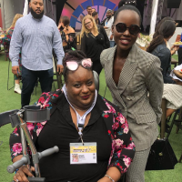 Imani Barbarin Pictured with Lupita Nyong'o outdoors